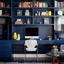 Image Light Blue Study Room Contemporary Builtin Desk Dark Wood Floor Study Room Idea In New Houzz 75 Most Popular Blue Home Office Design Ideas For 2019 Stylish