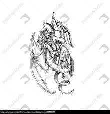 Stock Photo 23133401 St George Slaying Dragon Tattoo