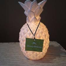 tommy bahama ceramic white pineapple beach coastal 7 watt nightlight lamp