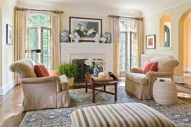 english colonial traditional living room