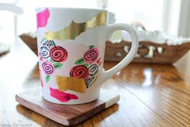 learn how to make a bold and dishwasher safe diy tissue paper mug with this easy