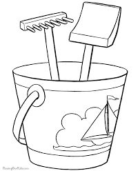 Small Picture Printable Beach Coloring Pages