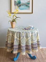morning dew french country provence yellow round tablecloth