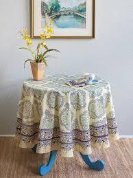 yellow blue tablecloth elegant french tablecloth 70 round tablecloth 90 round tablecloths saffron marigold