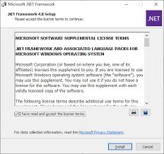 microsoft net framework 4 8 offline