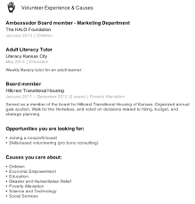 Excellent Community Service Resume 63 For Free Resume Templates with Community  Service Resume