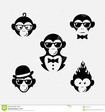 Monkey Design Logo Monkey Logos Stock Vector Illustration Of Fire Element