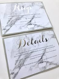 Rsvp Card Sizes Marble Wedding Rsvp And Guest Information Details Card