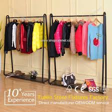 T Shirt Display Stand Wholesale Metal Customized clothes rack for tshirt bag display 75