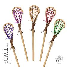 the twig 32 wooden lacrosse stick custom colors artist justin skaggs
