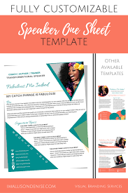 Speaker Templates Speaker One Sheet Template Edgy Templates Teaching