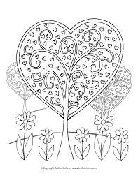 Small Picture Heart Trees Valentines Day Coloring Page Trail Of Colors