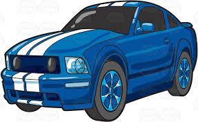 blue sports car clipart.  Blue A Cool Blue Sports Car In Blue Sports Car Clipart Y