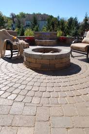 patio pavers with fire pit. Edington Fire Pit On Pavers Patio With