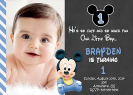 baby mickey mouse invitations birthday free printable mickey mouse 1st birthday invitations template
