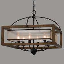 decorating amusing wooden chandeliers 1 square wood frame and sheer chandelier light modern 3afc0c2642d045d8 small wooden