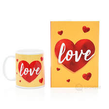 love heart gift set