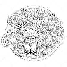 Doodle Bloemen Kruiden En Mandala S Stockvector Sliplee 100265926