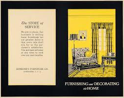 1919 Ad Someones Furniture Mock Decor Advertisement ORIGINAL
