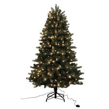 Home Accents Holiday 75 Ft PreLit LED Nostalgia Vintage Quick Holiday Home Accents Christmas Tree