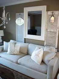 old shutters with small mismatched mirrors