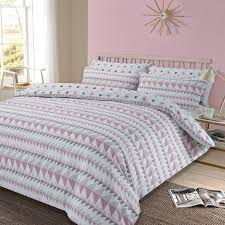 blush pink bedding sets brilliant duvet cover with pillowcase geometric rewind set pastel grey 9