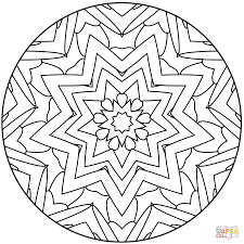 Small Picture Easy Mandala with Stars coloring page Free Printable Coloring Pages