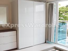 pax farvik storas white glass sliding door