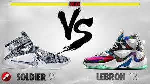 lebron 13. soldier 9 v lebron 13 thumb
