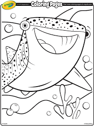 Small Picture Finding Dory Destiny the Whale Shark Coloring Page crayolacom