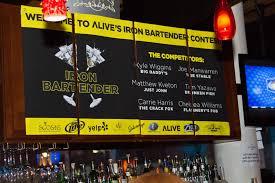 flyer advertisement portfolio categories ryan macrum flyer advertisement iron bartender event hosted by alive magazine