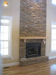 ideas stacked stone fireplace for clic interior heater design