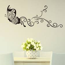 erfly wall stickers creativity personality wall decoration simple wall painting designs for living room