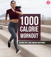 1000 calorie workout can you burn
