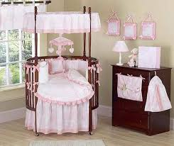 round crib bedding set