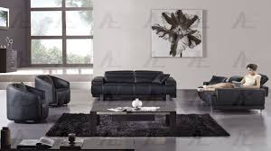 black faux leather sofa set ae606 bk ae606 bk