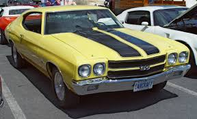 1970 Chevrolet Chevelle SS - Yellow with Black Stripes - Front Angle