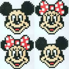 Perler Beads Mickey Mouse Designs Mickey And Minnie Mouse Perler Beads By An Co Chan Sacha
