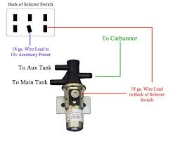 3 port fuel selector valve troubleshooting questions for aux fuel Pollak Rocker Switch Wiring Diagram edit3 this is a typical connection schematic for a bwd switch valve LED Rocker Switch Wiring Diagram