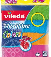 <b>Салфетка Vileda Colors</b> из микрофибры 4шт – купить в Москве ...