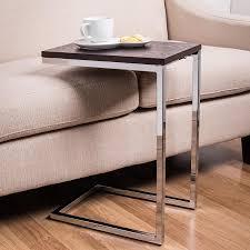 sofa table. Interesting Sofa KSP C Shape Couch Table EspressoChrome Throughout Sofa