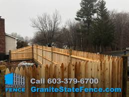 wood fence fence installation cedar picket fence in derry nh granite state fence is a full service residential and commercial fencing contractor