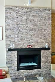 faux rock fireplace stone design ideas