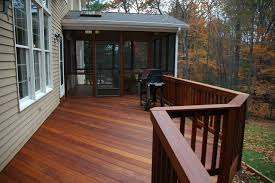 Windsor Connecticut Ipe deck and screened porch traditional-porch