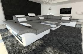 Fabric Design Sofa Atlanta Xl With Led