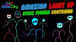 Light Up Stick Figure Costume Uk Glowcitys Led Light Up Stick Figure Costumes