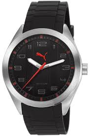 black puma pace rubber strap watch pu103321004 men s black puma pace rubber strap watch pu103321004