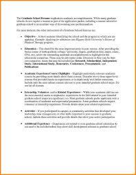 10 Resume Objective For Graduate School Happy Tots
