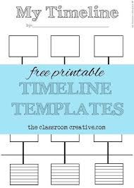 student timeline template free printable timeline templates theclassroomcreative com student