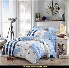 nautical bedroom ideas - decorating nautical style bedrooms - nautical  decor - sailing ship theme -. Cruising Travel Cotton Bedding